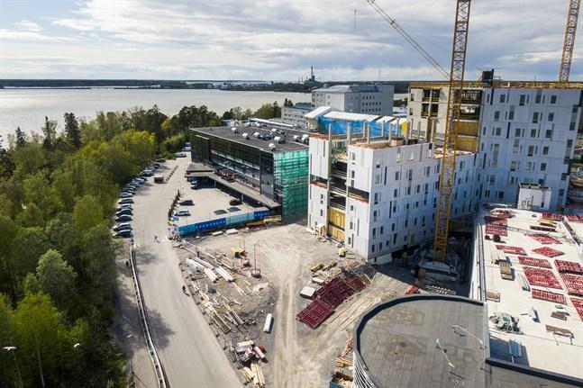 Det blivande H-huset vid Vasa centralsjukhus.