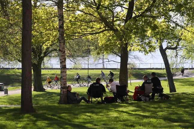 Skolavslutningen har inletts lugnt i Vasa.