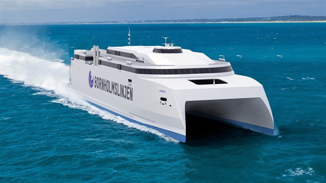 Den nya katamaranen gör 37 knop och tar 1 600 passagerare.