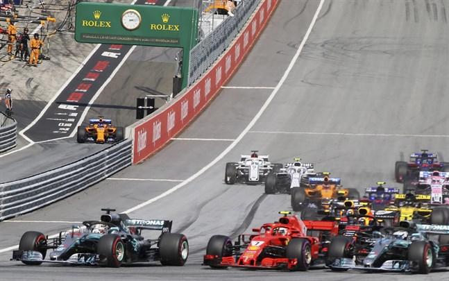 VM-serien i formel 1 sätter i gång i Österrike i juli.