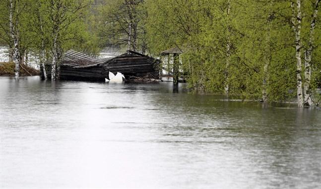 Lappland väntar mer nederbörd. Det väntas förvärra och förlänga vårens översvämningar.
