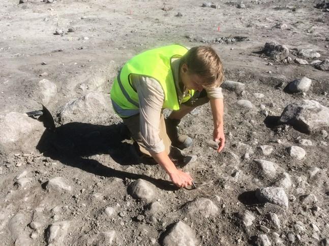 Daniel Smeds från Smedsby är med och gräver ut spektakulära fynd utanför Norrköping i Sverige.