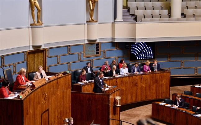 EU:s gemensamma återhämtningsfond blev det stora diskussionsämnet under riksdagens frågetimme på torsdagen. Arkivbild.