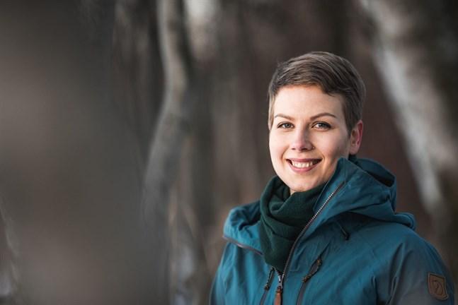 De grönas riksdagsgrupps nya ordförande Jenni Pitko är första periodens riksdagsledamot från Uleåborgs valkrets.