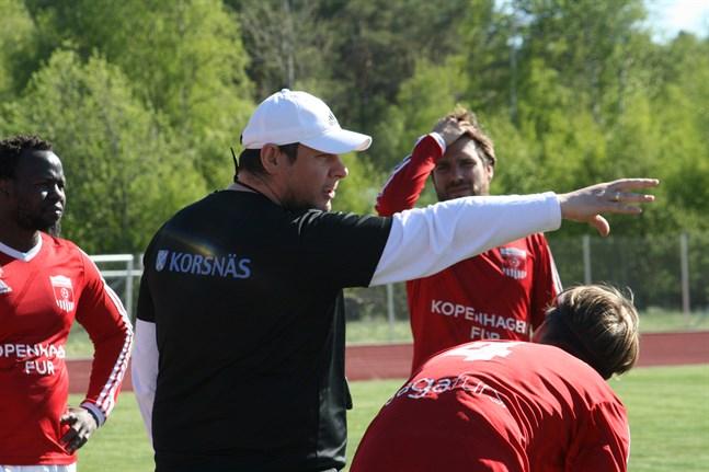 Tomislav Krstevskis Korsnäs FF föll hemma mot KPV/Akatemia.