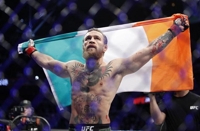 Conor McGregor vid comebacken i januari i år. Arkivbild.