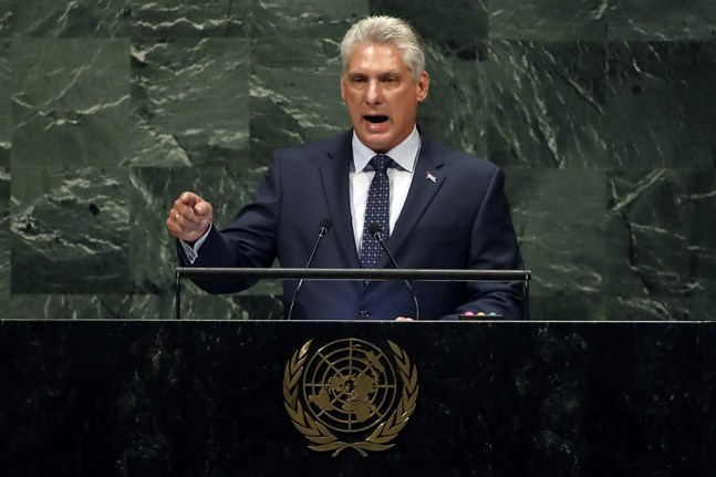Kubas president Miguel Díaz-Canel. Arkivbild.