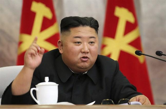 Nordkoreas diktator Kim Jong-Un. Bild från 24 maj.
