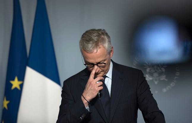 Coronakrisen har gett Frankrikes finansminister Bruno Le Maire en BNP-minskning med 5,3 procent under första kvartalet i år. Arkivbild.