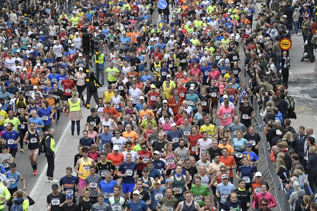 Starten i Stockholm Marathon 2019. I år blir det inget lopp i huvudstaden.