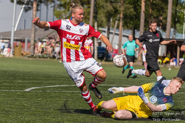 Petteri Jokihaara gjorde GBK:s och matchens enda mål.