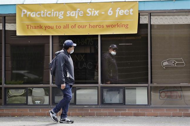 En man har fått en sjukhusräkning på 1,1 miljoner dollar efter att ha vårdats på sjukhus i Seattle i två månader. Bild tagen i staden den 4 juni.