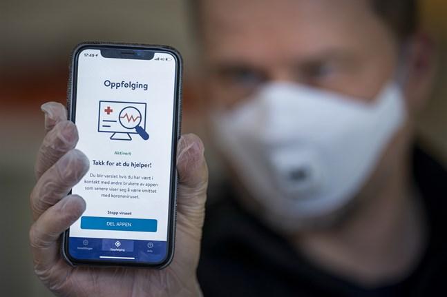Norska folkhälsomyndigheten FHI stoppar insamlingen av data i smittskyddsappen Smittestopp. Arkivbild.
