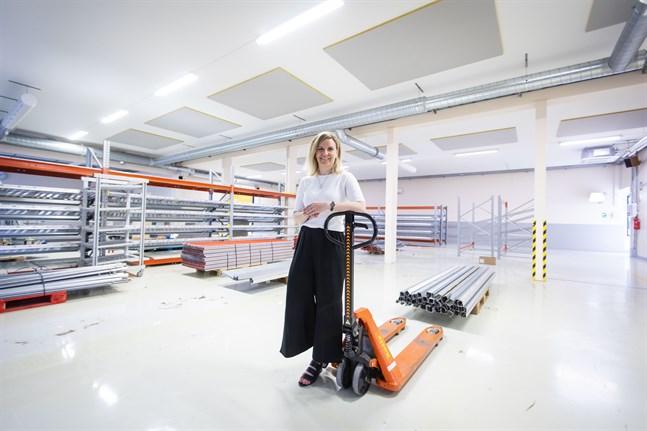 Här ska Dermoshops nya tvålfabrik byggas, säger vd Suvi Markko.