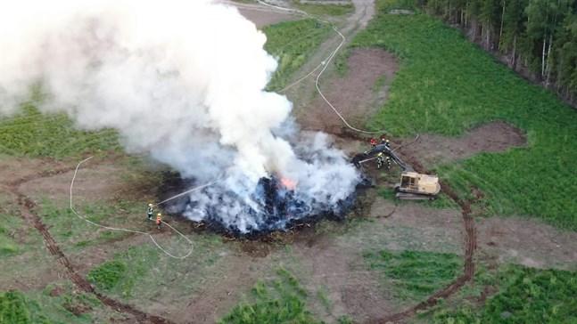 Spridningsrisken vid bränder är stor just nu.