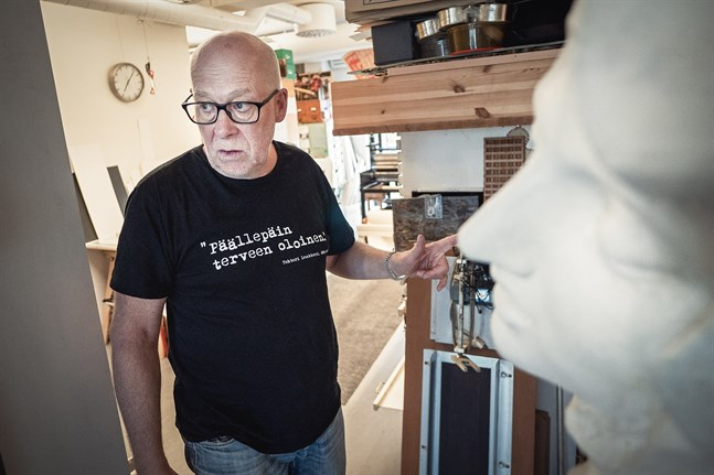 Leif Strengell gillar konstnärligt samarbete och mångfald. i hans ateljé samsas dåtid, nutid och framtid.