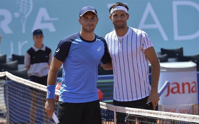 Grigor Dimitrov och Borna Coric möttes i en uppvisningsmatch i kroatiska Zadar i lördags. Nu har båda testat positivt för covid-19.