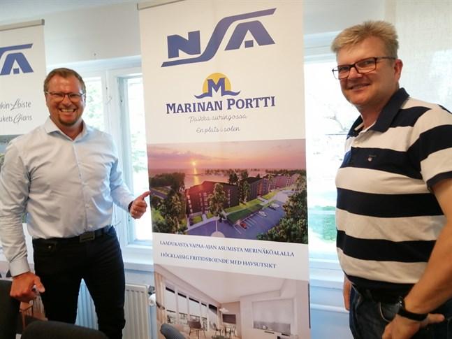 NSA:s Jan Storbacka och Håkan Nyman på Nycon gör stora satsningar i Kalajoki.
