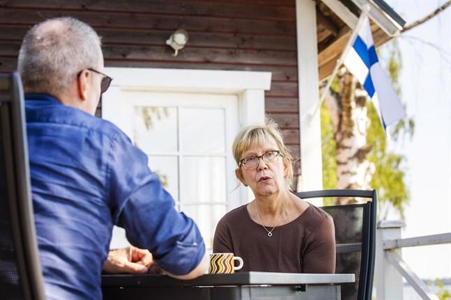 Dan Ekholm i samtal med Lilian Sjölund,.