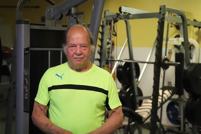 Taisto Hämäläinen har spenderat enormt mycket tid på sitt gym.