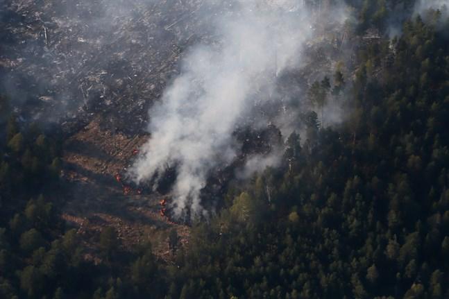 Räddningstjänsten i mellersta Norrland har de senaste dagarna bekämpat flertalet bränder som uppstått i högsommarvärmen. Arkivbild.