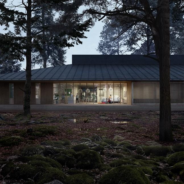 Funktionalitet, trivsamhet och säkerhet betonas i den nya Lagmansgården som byggs i Jakobstad. Stämningen och byggnadens terapeutiska egenskaper är också centrala.