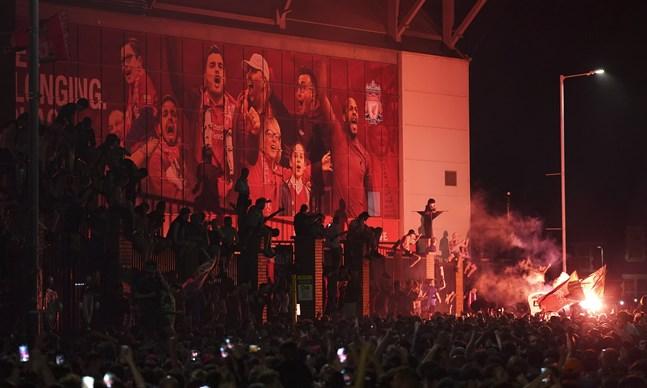 Glädjen var stor när det stod klart att Liverpool är mästare.