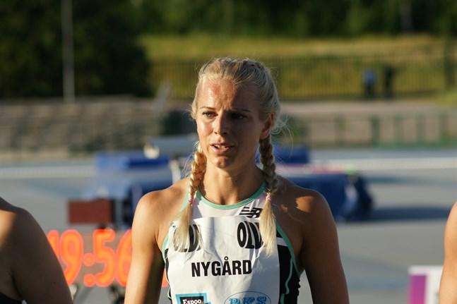 Jeanine Nygård, VIS, har inte den rätta farten i kroppen ännu.