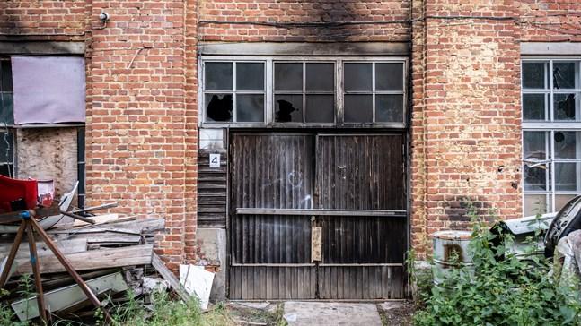 Tvålfabriken fick skador efter branden.
