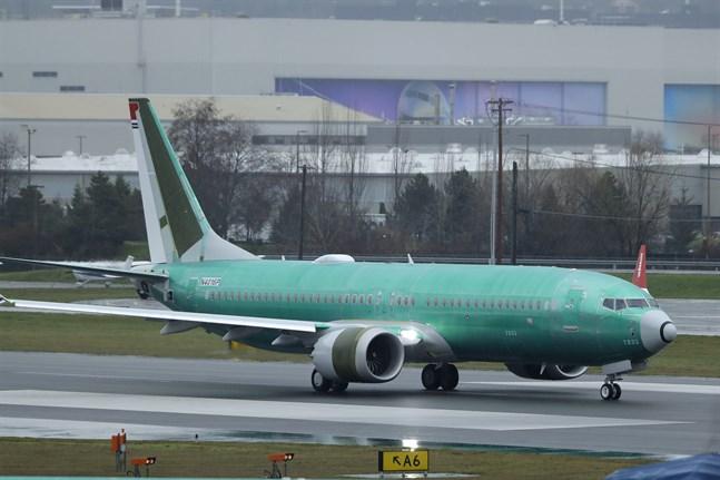 En 737 Max vid Boeings anläggning i Renton i den amerikanska delstaten Washington.