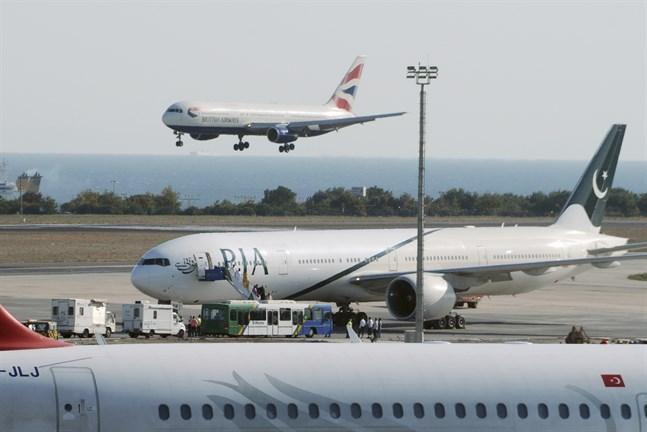 Pakistans nationella flygbolag PIA får flygförbud inom EU. Arkivbild.