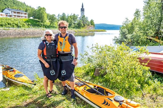 Herman Fogelberg och Erika Fogelberg har reserverat två veckor för sitt paddlingsäventyr. Förhoppningen är att de kan avsluta äventyret i hemtrakterna i Södra Vallgrund.