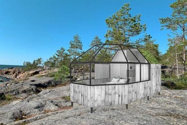 Jakobstad säger nej till iglon på Fäbodaklipporna. Bilden är ett montage.