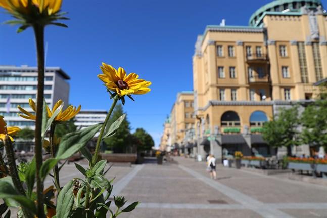 Gågatorna är sommarfina i Vasa centrum.