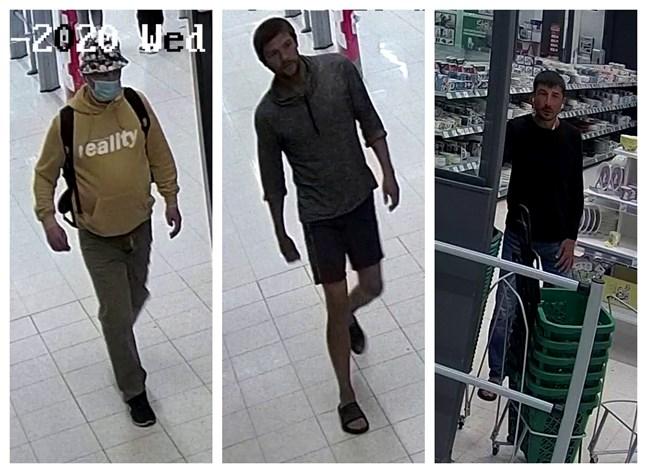 Polisen i Österbotten släpper nya bilder på de misstänkta smyckestjuvarna i Seinäjoki. Det är övervakningskameror som fångat männen på bild.