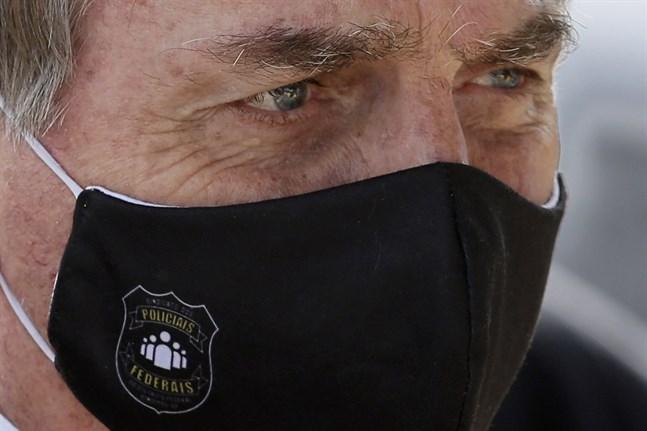 Brasiliens president Jair Bolsonaro lägger in veto mot virusstöd till landets ursprungsbefolkning. Arkivbild.