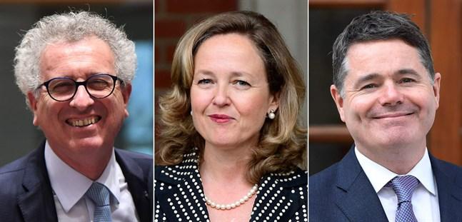 Luxemburgs Pierre Gramegna, Spaniens Nadia Calviño och Irlands Paschal Donohoe ställde upp i ordförandevalet och Eurogruppen valde Donohoe.