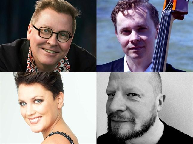Seppo Kantonen på piano, Ville Herrala på bas, Mari Palo är sopran, Joonas Riippa på trummor och Lasse Hjelt, recitatör.
