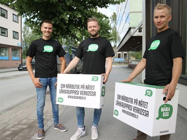 August Strandberg, Daniel Löf och Tommy Nyholm vill göra steget mellan producenterna och kunderna kortare.