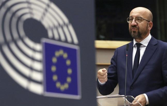 EU:s permanente rådsordförande Charles Michel väntas snart lägga fram ett kompromissförslag om coronastöd och nästa långtidsbudget. Arkivbild.