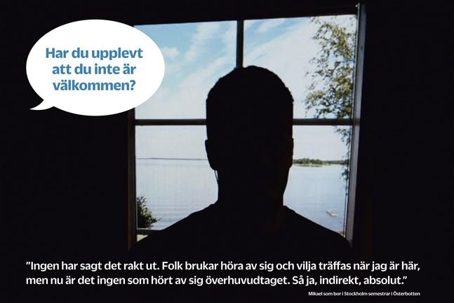 """""""Mikael"""" som bor i Stockholm semestrar i Österbotten."""