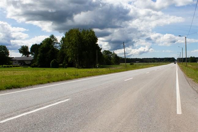 Olyckan inträffade på Strandvägen i närheten av Solfavtaget.