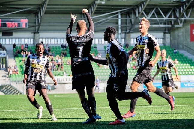 Då VPS mötte MyPa i Sandviken i mitten av juli gjorde Samu Alanko (nummer 7) mål. Borta mot MyPa på lördagskvällen blev det tre.