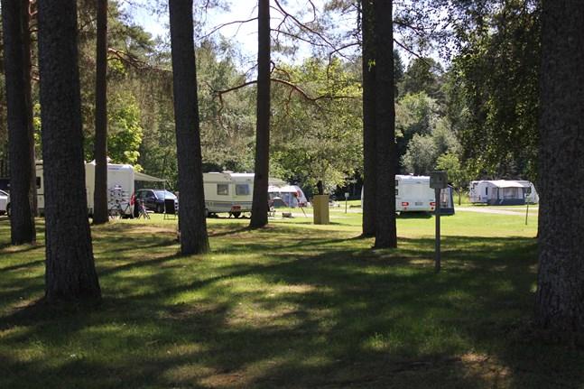 Många har valt att hyra säsongsplatser på campingen i år.