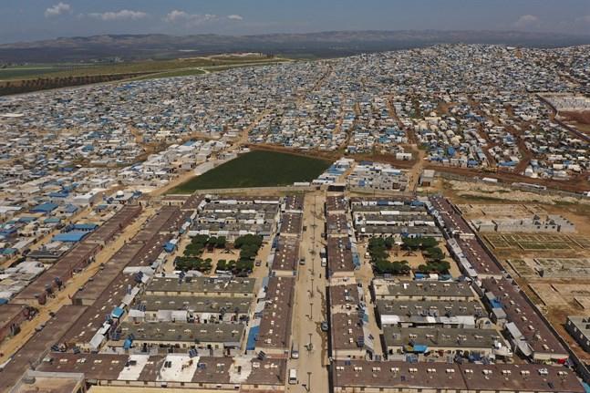 Arkivbild från ett migrantläger i Idlibprovinsen i Syrien, nära den turkiska gränsen.