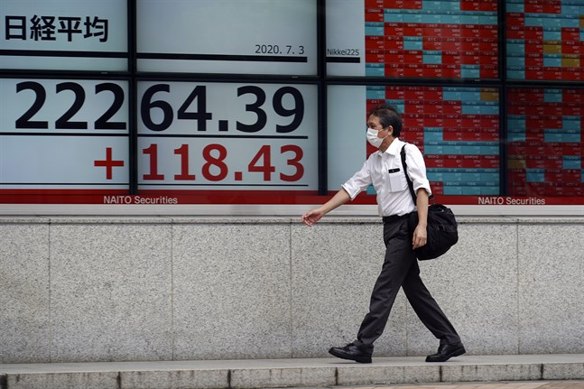 Topixindexet i Tokyo har stigit 2 procent under morgonen. Arkivbild.