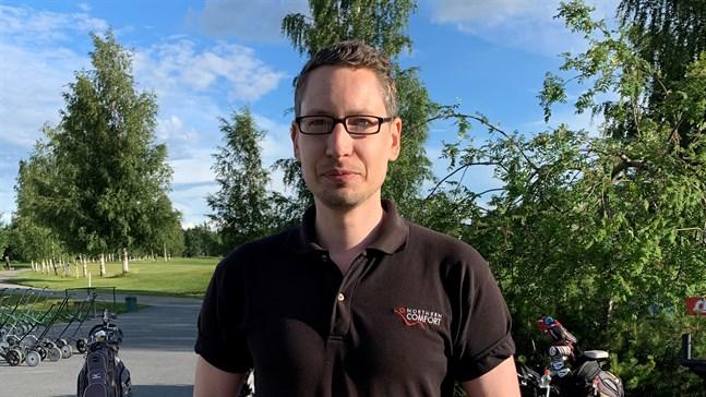 Daniel Antfolk var etta i Kristinestadsmästerskapen i golf.