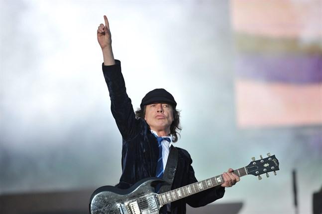 AC/DC-gitarristen Angus Young. Arkivbild.