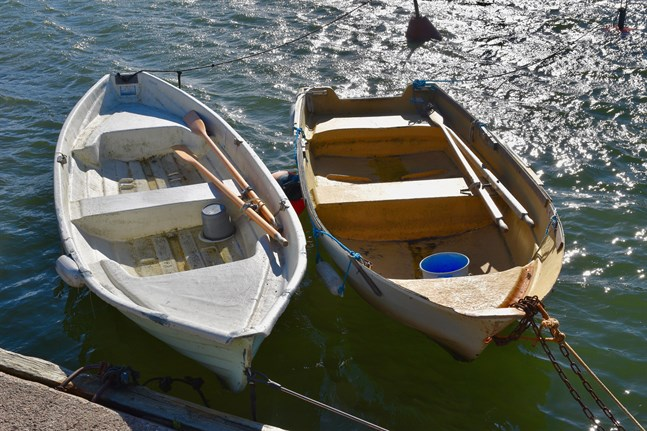 Båtarna på bilden var inte involverade i roddjakten i Tammerfors.