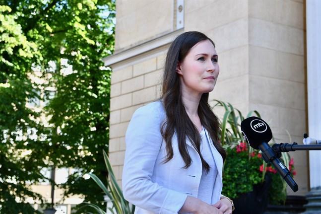 Statsminister Sanna Marin (SDP) företräder Finland vid Europeiska rådets möte i Bryssel.